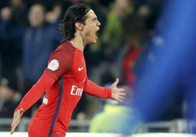 Ligue 1: Cavani scores twice as PSG beats Nantes 2-0 to pressure Nice
