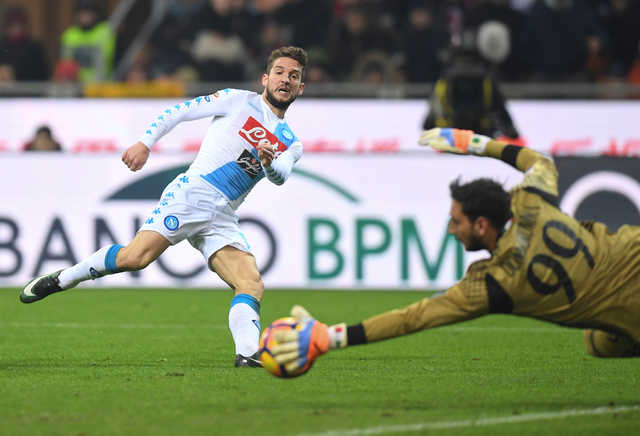 Serie A: Mertens leads Napoli to win at Milan