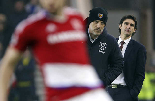 Premier League: Karanka upset with Boro fans after Hammers defeat