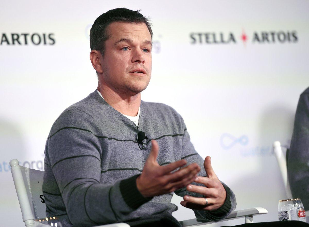 Matt Damon says he'll pitch clean water to Trump