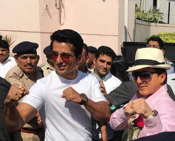 Photos: Jackie Chan arrives in Mumbai to promote 'Kung Fu Yoga'