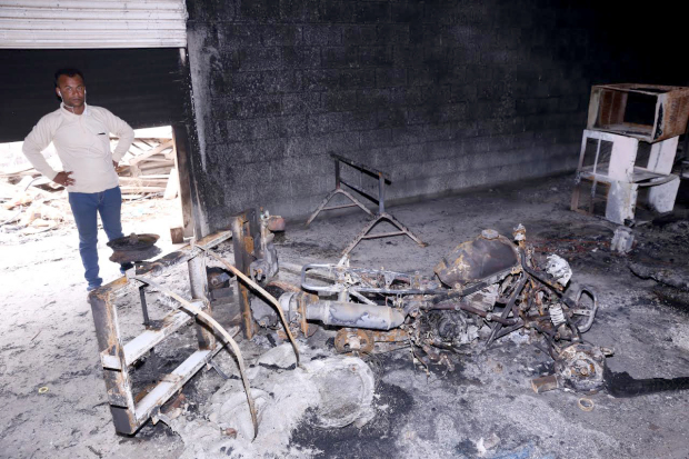 Farm warehouses destroyed in arson attack