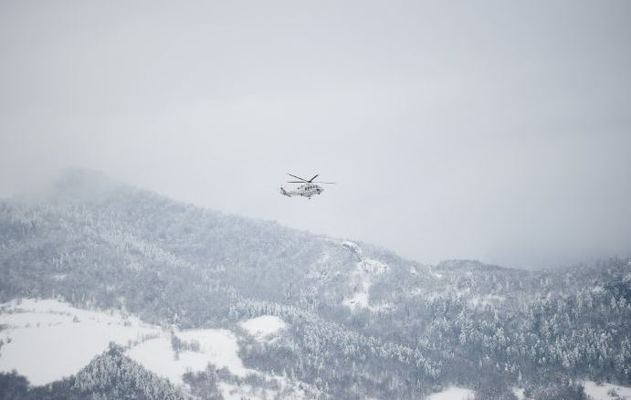 Emergency helicopter crashes in central Italy