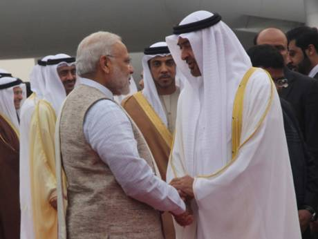 Shaikh Mohammad arrives in New Delhi on three-day state visit