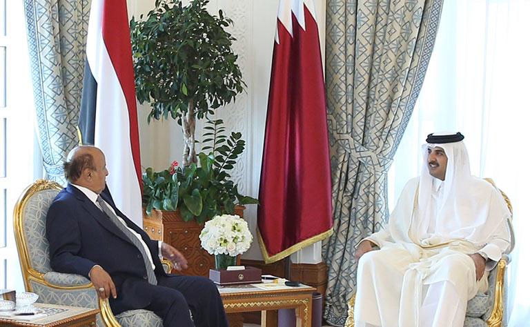 Qatari leader meets Yemeni president