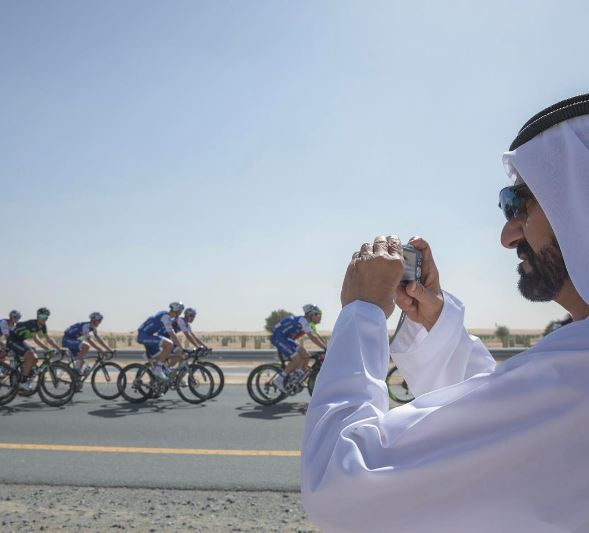 In Pictures: Shaikh Mohammad watches cycling tour in Dubai