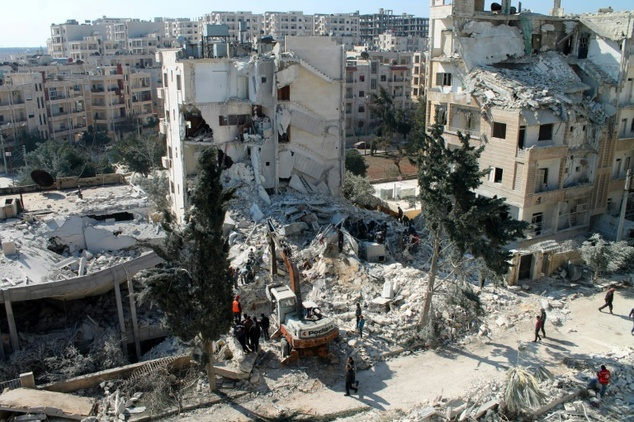 Air strikes on Syrian ex-Qaeda branch kill 26