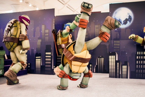 Chance to interact with Ninja Turtles