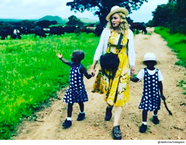 Madonna introduces newly adopted twin girls from Malawi