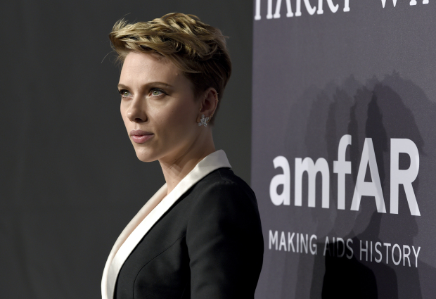 Scarlett Johansson, post breakup, resurfaces for a gala