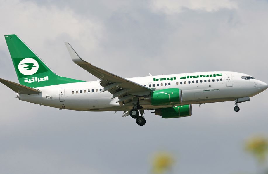 Iraqi Airways plane evacuated after wheel fire