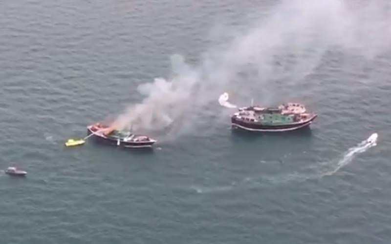 Dubai Floating bridge closed after fire breaks out