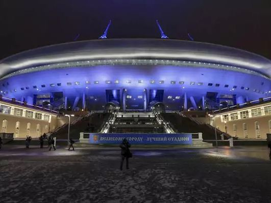 Troubled Russian World Cup stadium opens to the public