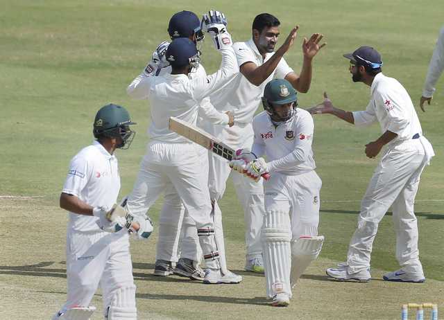 Ashwin, Jadeja spin India to win over Bangladesh