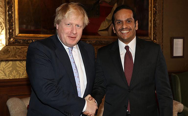 Qatari, British foreign ministers discuss regional developments