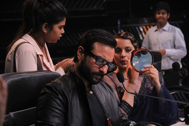 Behind-the-scenes: Fun & candid photos of Saif, Kangana and Shahid on Indian Idol