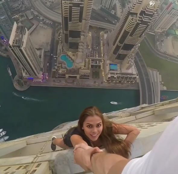 Living on the Edge: Russian model dangles with her life for a daring photoshoot