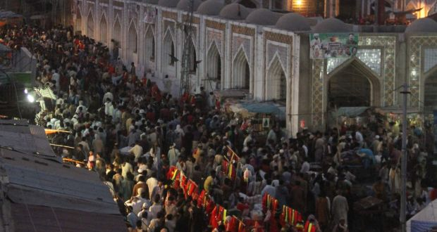 Suicide attack on Pakistani shrine kills 72, claimed by Islamic State