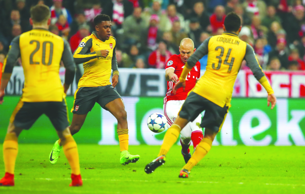 BAYERN HIT FIVE PAST ARSENAL