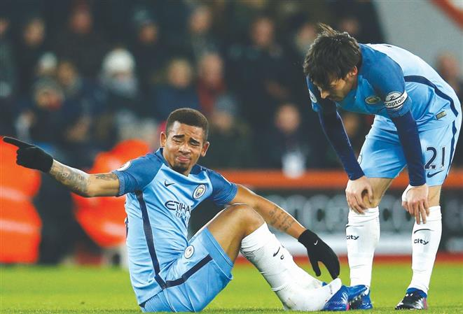 City's Jesus out for 'three months' due to injury