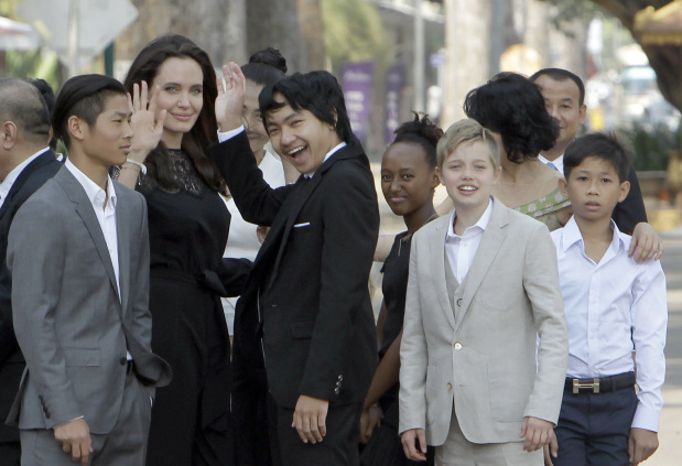 In Pictures: Angelina Jolie and children in Cambodia for premiere of her new film