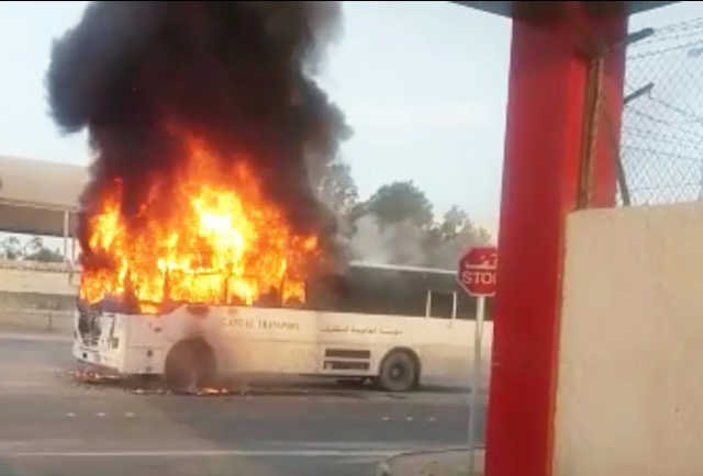 Driver credited for 'miraculous' escape as children survive school bus blaze