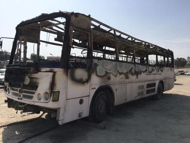 Pupil describes 'panic' among children on burning school bus