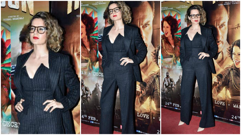 Kangana Ranaut looks stunning for the 'Rangoon' screening
