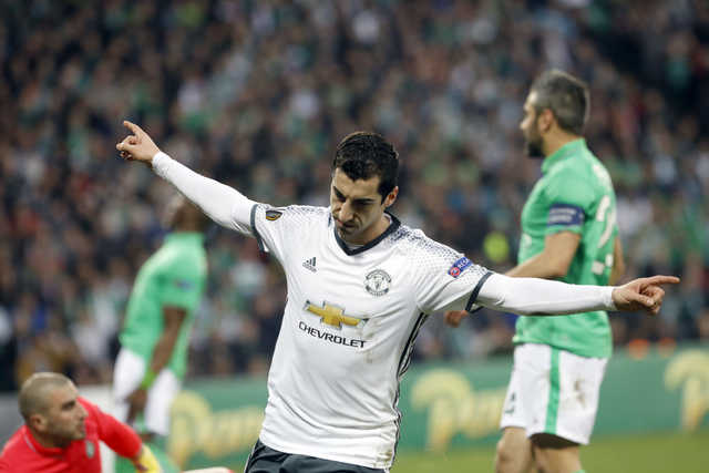 Europa League: Mkhitaryan seals United march
