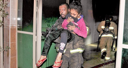 30 people rescued from a burning multi-storey building