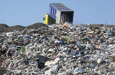 Landfill site running out of space