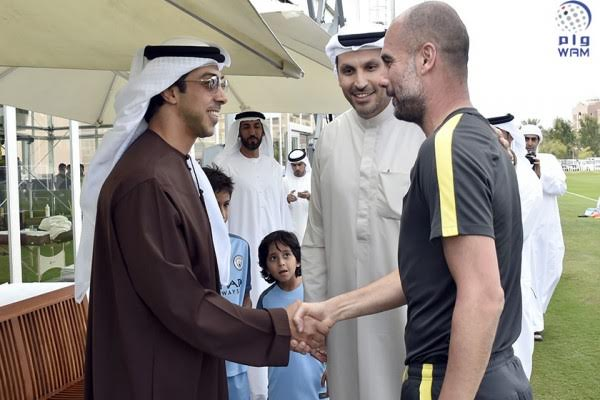 UAE Deputy Premier attends Manchester City training