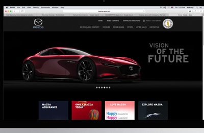 Mazda Qatar launches new-look website