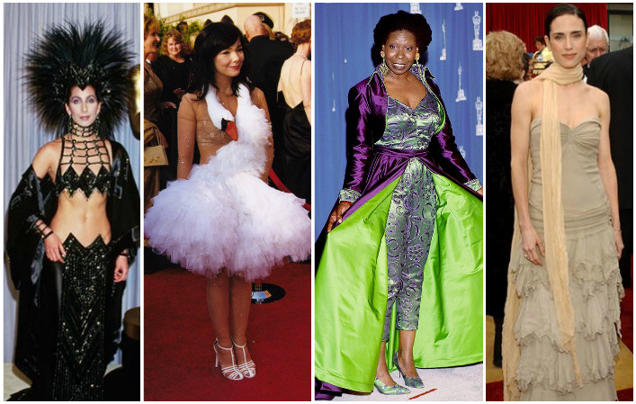 Oscars Fashion: Top 20 of the WORST Oscar looks of all time!