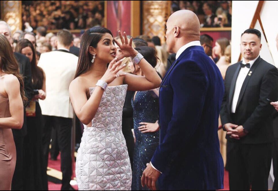 Photos: Priyanka Chopra in animated conversation with The Rock at the Oscars