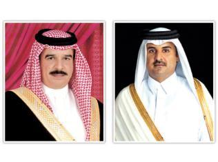 Qatari leader, Bahrain King discuss joint ties in telephone call