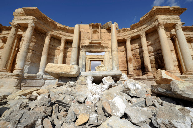 Expert says IS has badly damaged major Palmyra monument