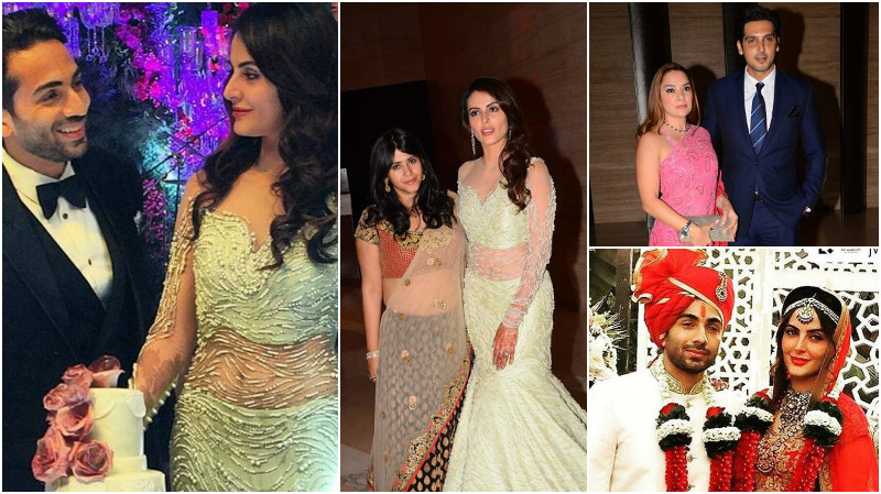 In Pictures: Ekta Kapoor, Gauahar Khan party at Mandana Karimi's wedding reception