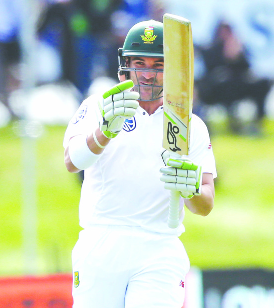 Elgar rescues South Africa with fine century