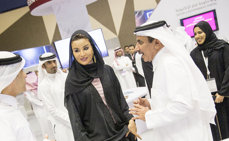 In Pictures: Shaikha Moza visits QITCOM 2017