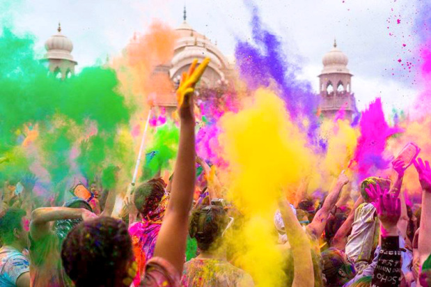 Festival of colours at Lost Paradise