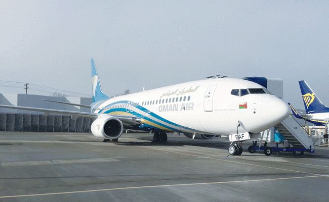 New Oman Air Boeing 737-800 aircraft makes maiden flight