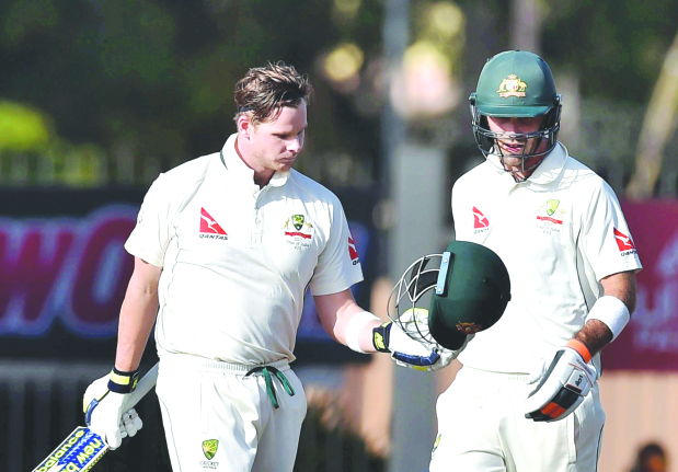 Smith ton saves day for Australia