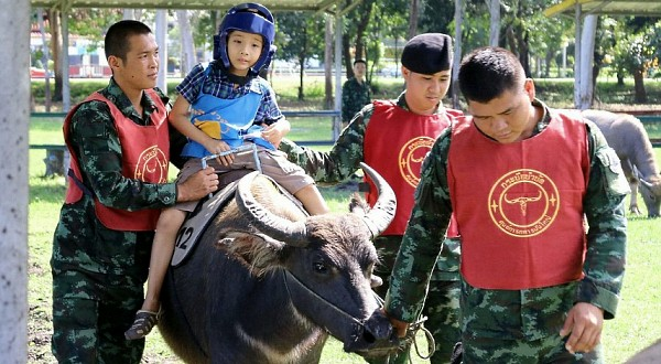 Thailand's Buffalo soldiers help children combat autism