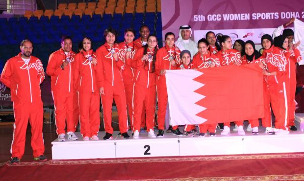 Bahrain women second in Doha