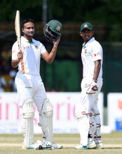 Bangladesh in command with Shakib ton