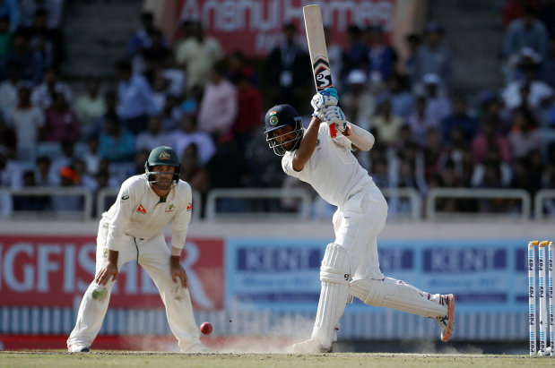 Pujara hits 130 as India trail Australia by 91