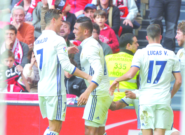 Casemiro powers Real past Bilbao