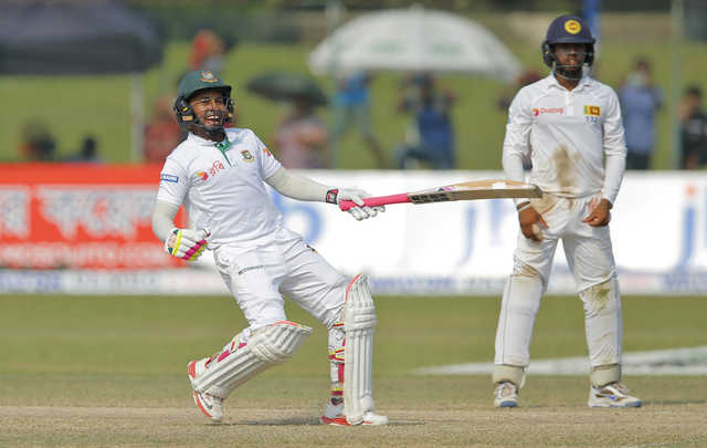 Bangladesh clinch historic win over Sri Lanka in 100th Test to draw series