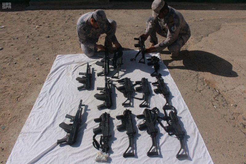 KSA: PHOTOS: Saudis foil attempts to plant land mines, smuggle weapons and drugs